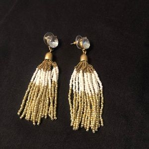 J.Crew Gold & Ivory Earrings. Excellent Condition!